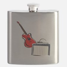 stylized guitar amp red. Flask