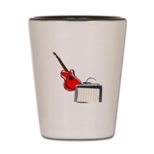 stylized guitar amp red. Shot Glass