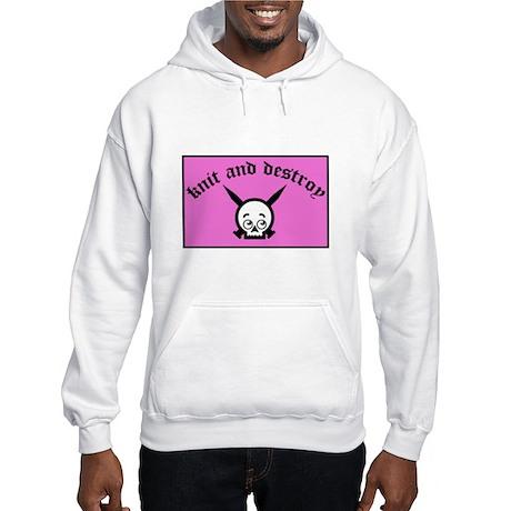 Knit and Destroy Skull Hooded Sweatshirt