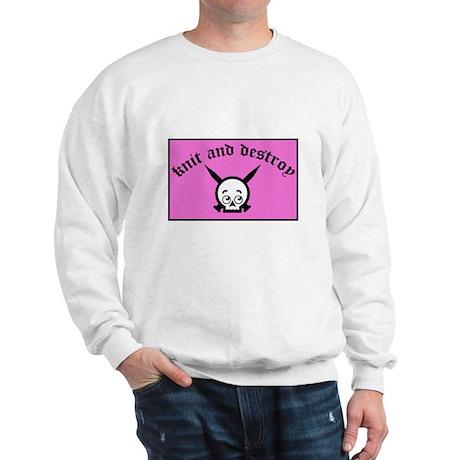 Knit and Destroy Skull Sweatshirt