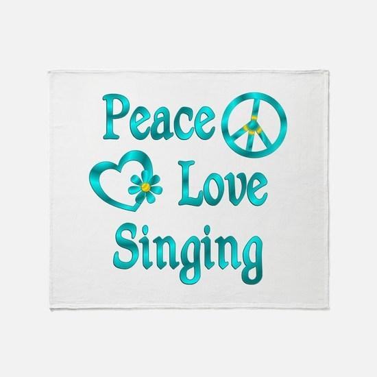Peace Love Singing Throw Blanket