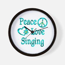 Peace Love Singing Wall Clock