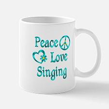 Peace Love Singing Mug