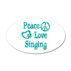 Peace Love Singing Wall Decal