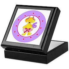 Tutu Labradoodle Age 6 Polka Dots Keepsake Box