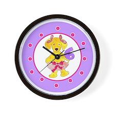 Tutu Labradoodle Age 6 Polka Dots Wall Clock
