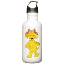 Labradoodle Pink Bows Water Bottle