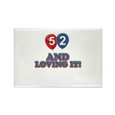 53 and loving it designs Rectangle Magnet