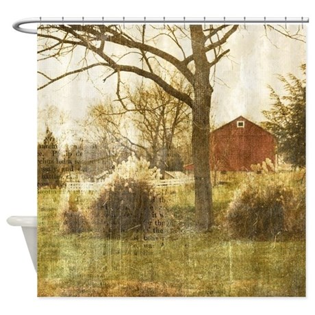 rustic farm cabin Shower Curtain by listing store