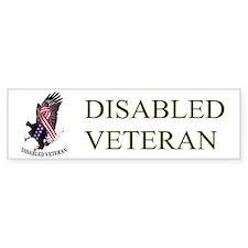 Disabled Veteran w/Eagle and Flad Bumper Bumper Bumper Sticker