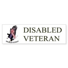 Disabled Veteran w/Eagle and Flad Bumper Bumper Stickers