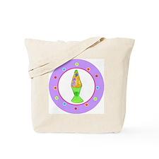 Lava Lamp Polka Dots Tote Bag