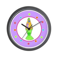 Lava Lamp Polka Dots Wall Clock