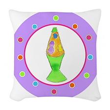 Lava Lamp Polka Dots Woven Throw Pillow