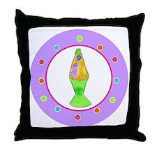 Lava Lamp Polka Dots Throw Pillow