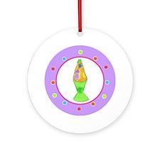 Lava Lamp Polka Dots Round Ornament