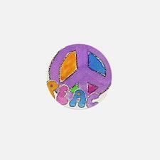 Purple Peace Sign Mini Button
