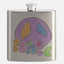 Purple Peace Sign Flask