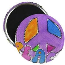 Purple Peace Sign Magnet