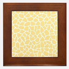 Giraffe Pattern in Yellow Framed Tile