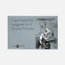 Monday Hangover Rectangle Magnet