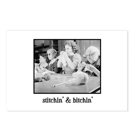 Stitchin' & Bitchin' Postcards (Package of 8)