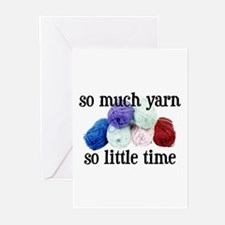 So Much Yarn, So Little Time Greeting Cards (Packa