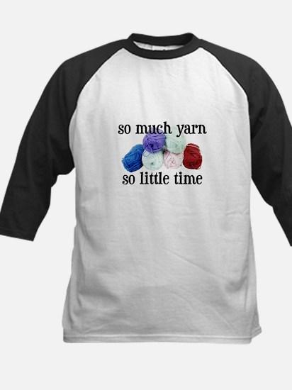 So Much Yarn, So Little Time Kids Baseball Jersey