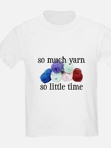 So Much Yarn, So Little Time Kids T-Shirt