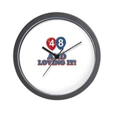 48 and loving it designs Wall Clock