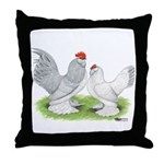 Self Blue d'Uccle Pair Throw Pillow