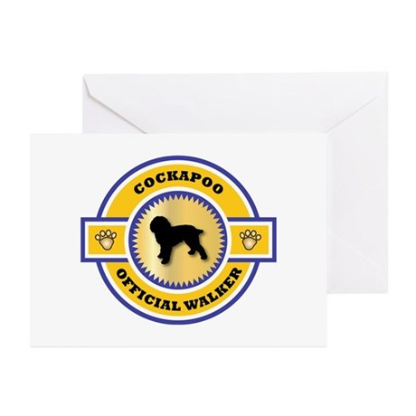 Cockapoo Walker Greeting Cards (Pk of 10)