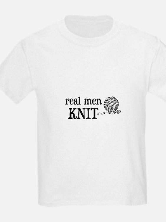 Real Men Knit Kids T-Shirt