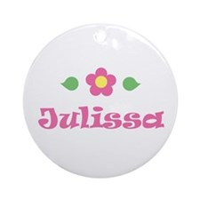 "Pink Daisy - ""Julissa"" Ornament (Round)"