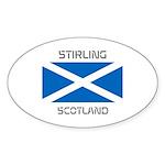 Stirling Scotland Sticker (Oval 10 pk)
