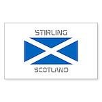 Stirling Scotland Sticker (Rectangle 50 pk)
