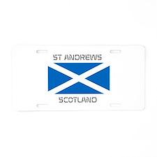 St Andrews Scotland Aluminum License Plate