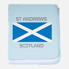 St Andrews Scotland baby blanket