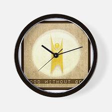 goodwithoutgod Wall Clock