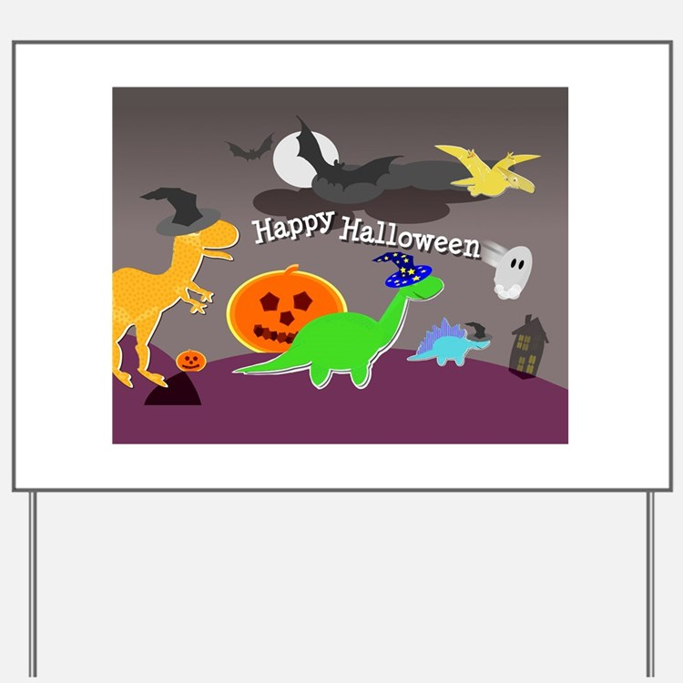 Happy Halloween Dinosaurs Kids Yard Sign