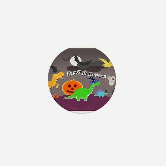 Happy Halloween Dinosaurs Kids Mini Button (10 pac