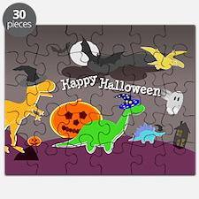 Happy Halloween Dinosaurs Kids Puzzle