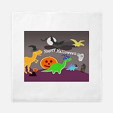 Happy Halloween Dinosaurs Kids Queen Duvet