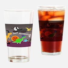 Happy Halloween Dinosaurs Kids Drinking Glass