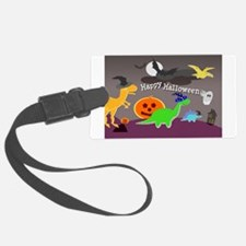 Happy Halloween Dinosaurs Kids Luggage Tag