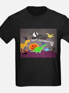 Happy Halloween Dinosaurs Kids T-Shirt