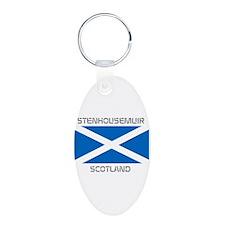 Stenhousemuir Scotland Aluminum Oval Keychain