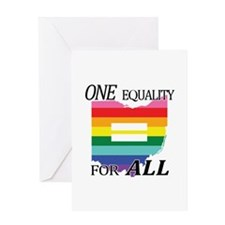 Ohio equality one equality blk font Greeting Cards