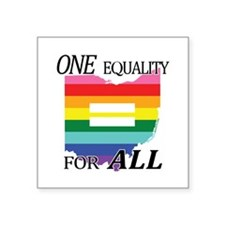 Ohio equality one equality blk font Sticker