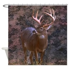 camouflage deer outdoor decor Shower Curtain